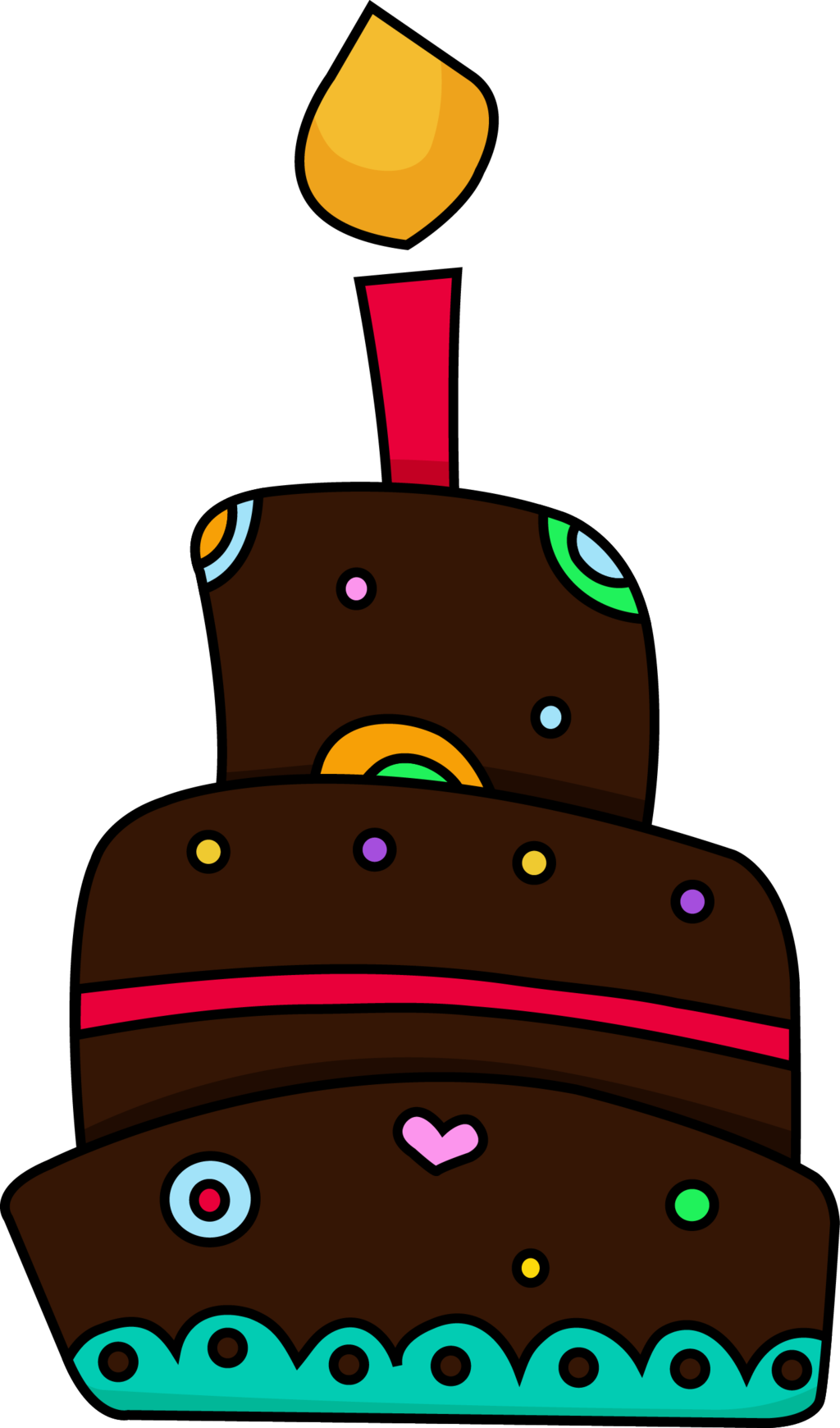 Free clip art birthday cake image freeuse Chocolate Cake Clipart - Clipart Kid image freeuse