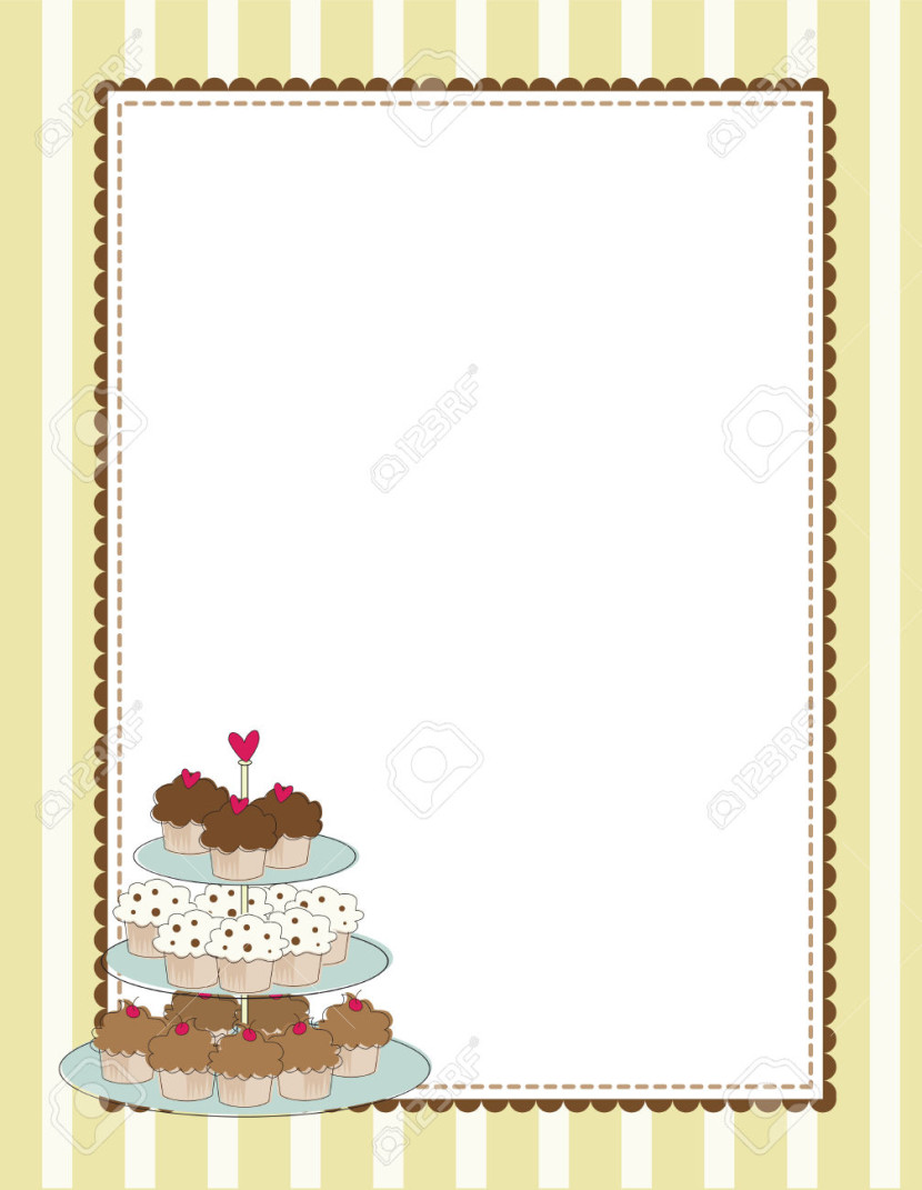 Cake borders clipart clipart royalty free download Cupcake Border Clip Art - Clipartion.com clipart royalty free download
