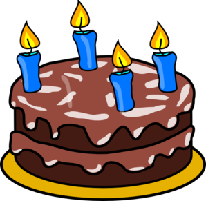Cake candle clipart graphic free library Birthday Cake Four Candles Clip Art at Clker.com - vector clip art ... graphic free library
