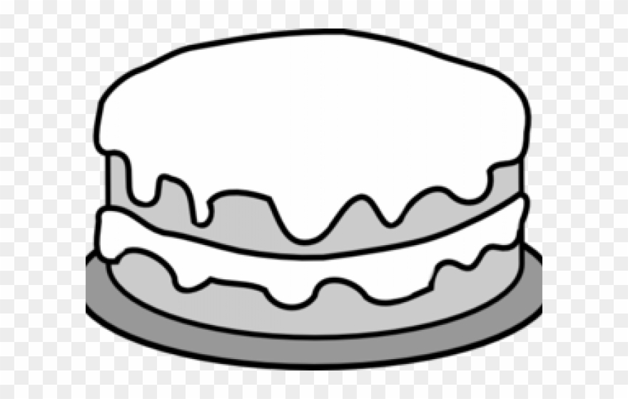 Cake clipart black and white free library Chocolate Cake Clipart Black And White - Png Download (#2693108 ... free library