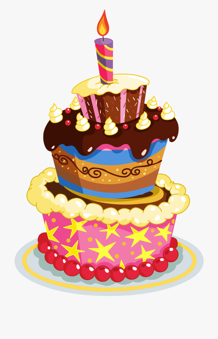 Cake clipart no background transparent download Cupcake Clipart August - Transparent Birthday Cake Clipart #743775 ... transparent download