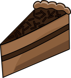 Of clipartfest chocolate . Cake clipart slice