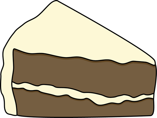 Cake clipart slice. Of black and white