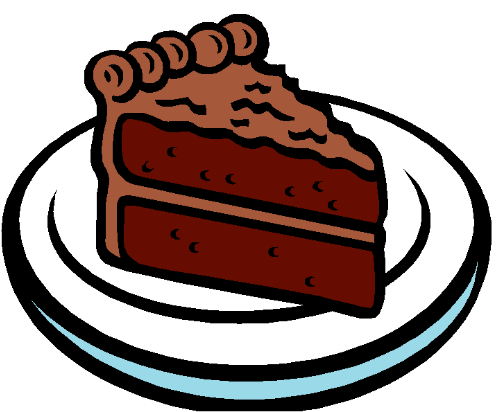 Chocolate clipartfest. Cake clipart slice