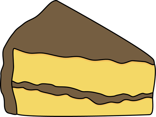 Cake clipart slice. Of kid with chocolate
