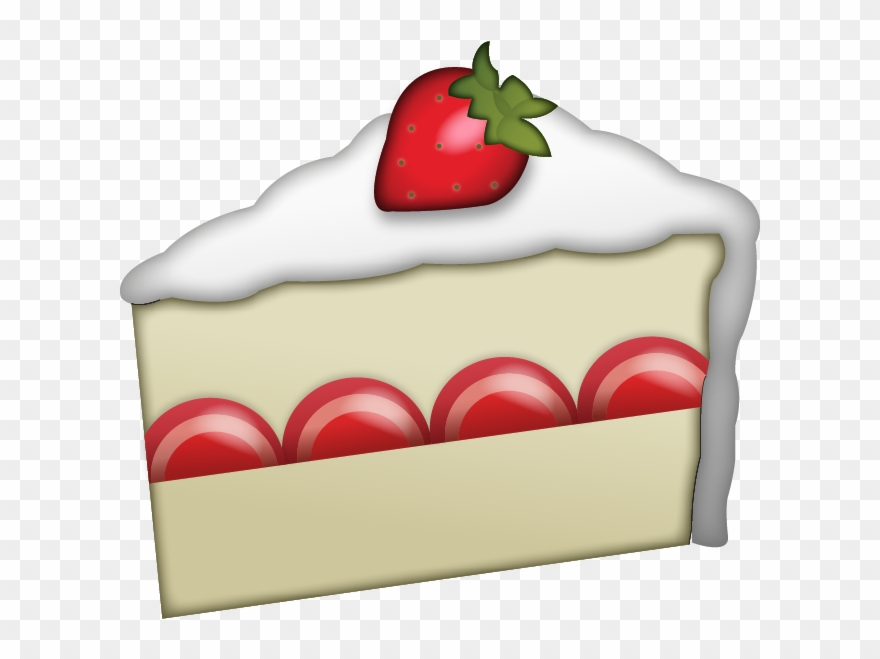Cake emoji clipart banner royalty free Strawberry Clipart Strawberry Slice - Iphone Emoji Cake Png ... banner royalty free