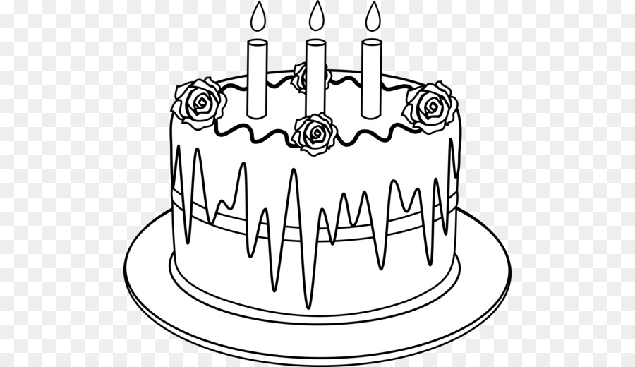 Cake outline clipart svg black and white Birthday Cake Drawing clipart - Cake, Food, transparent clip art svg black and white