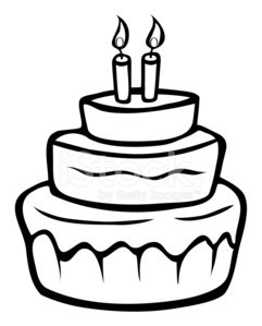 Cake outline clipart vector black and white stock Birthday Cake Outline premium clipart - ClipartLogo.com vector black and white stock