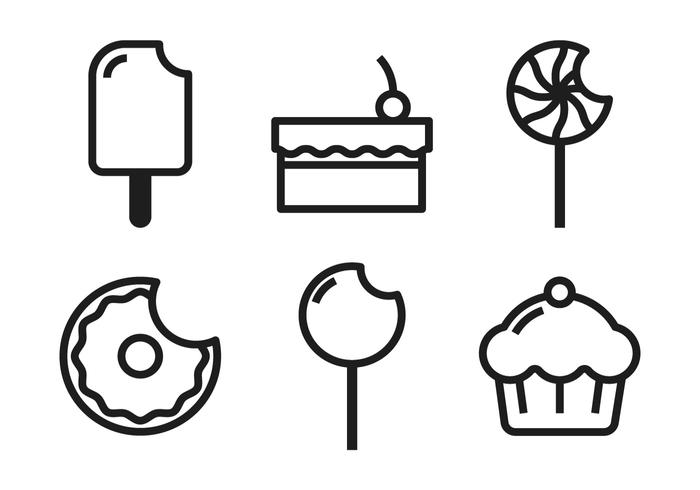 Cake pop images clipart black and white vector freeuse Cake Pop Icons Vector - Download Free Vector Art, Stock Graphics ... vector freeuse
