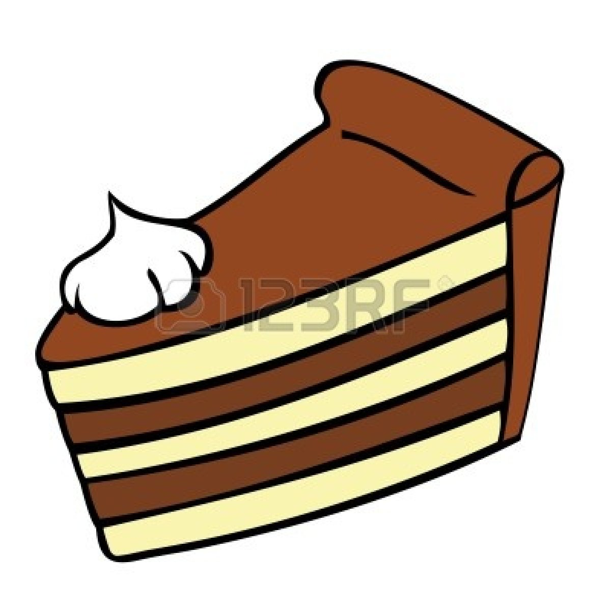 Cake slice clipart. Of black and white