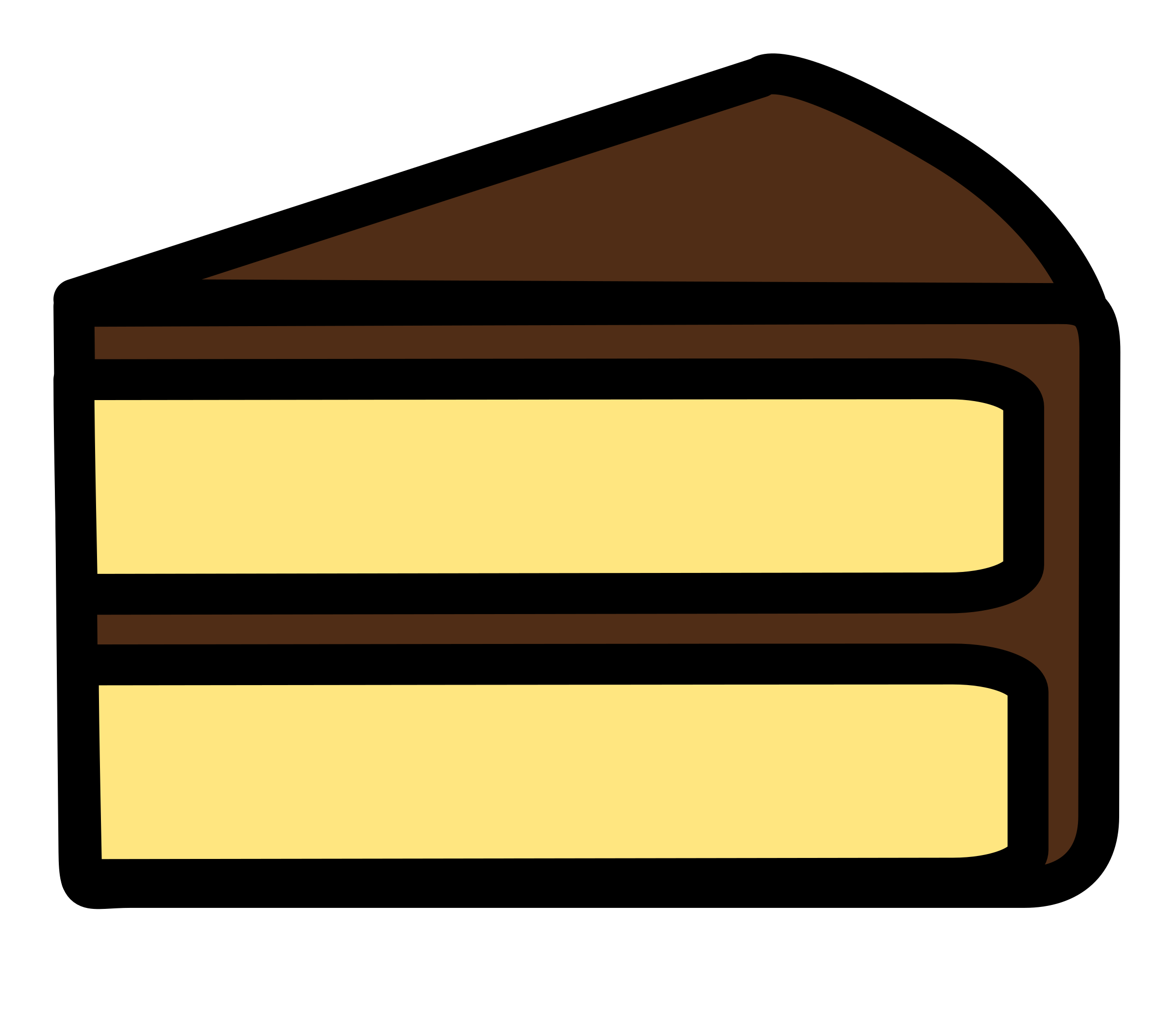 Clipart slice of cake