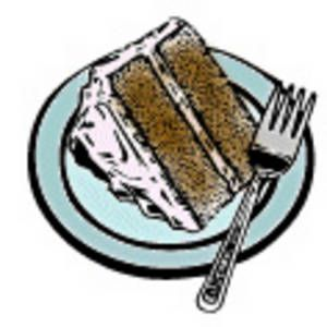 cake clip art | Free Clipart Picture of a Piece of Cake on a Plate ... picture freeuse library