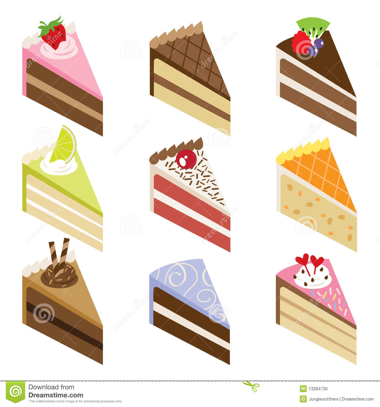 Cake slice clipart free clipart free Delicious Cake Slices Stock Photo - Image: 13284730 clipart free