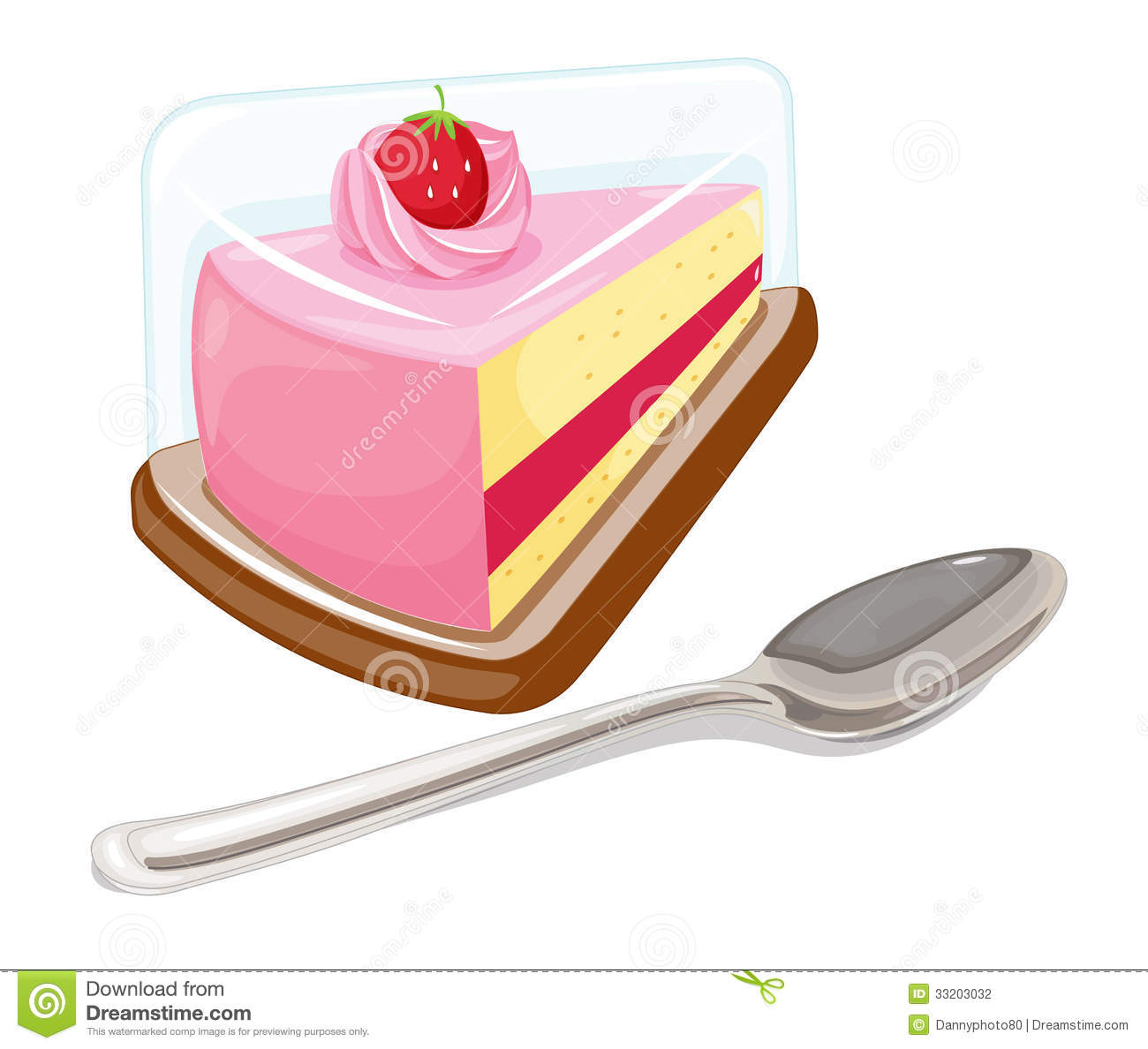 A Slice Of Cake And A Tablespoon Stock Photography - Image: 33203032 image black and white library