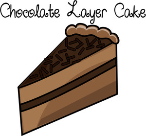 Slice of chocolate cake clipart - ClipartFest image free library