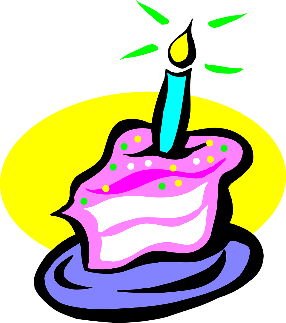 Transparent background clipartfest. Clipart birthday cake slice