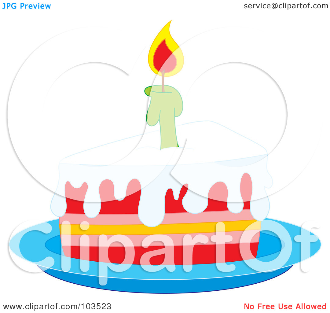 Cake slice clipart transparent background clip library Royalty-Free (RF) Clipart Illustration of a Lit Candle On A Slice ... clip library