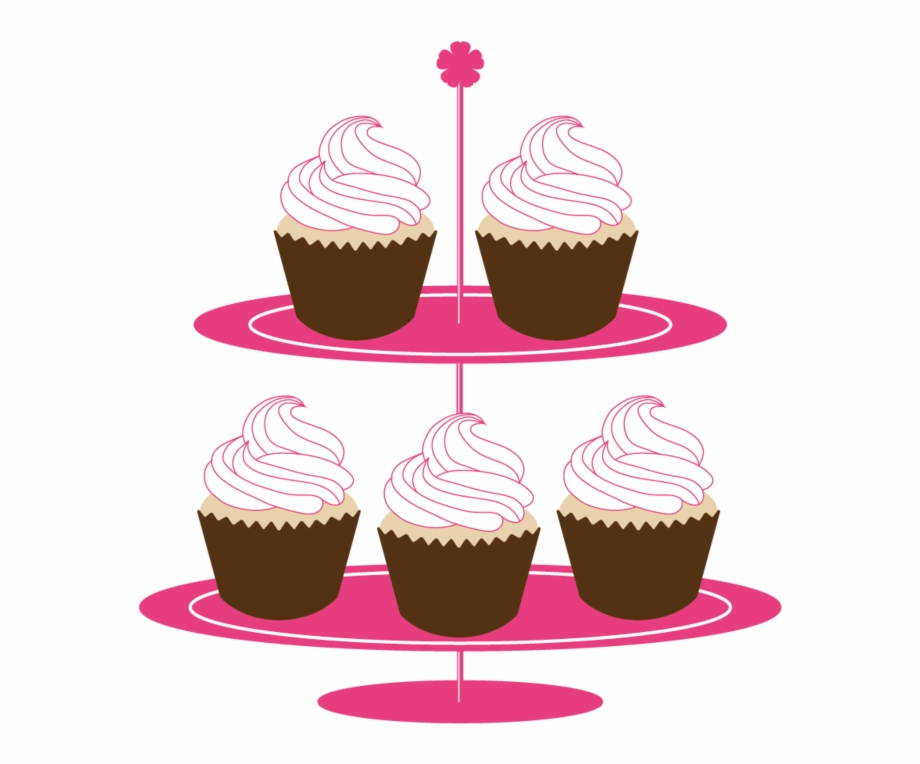 Cake stand clipart freeuse library Cake Stand - Cupcakes On Stand Clipart Free PNG Images & Clipart ... freeuse library