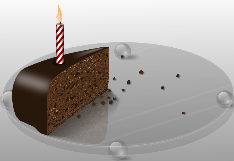Cake with 1 slice cut off clipart image transparent stock Free Birthday Cake Clipart image transparent stock