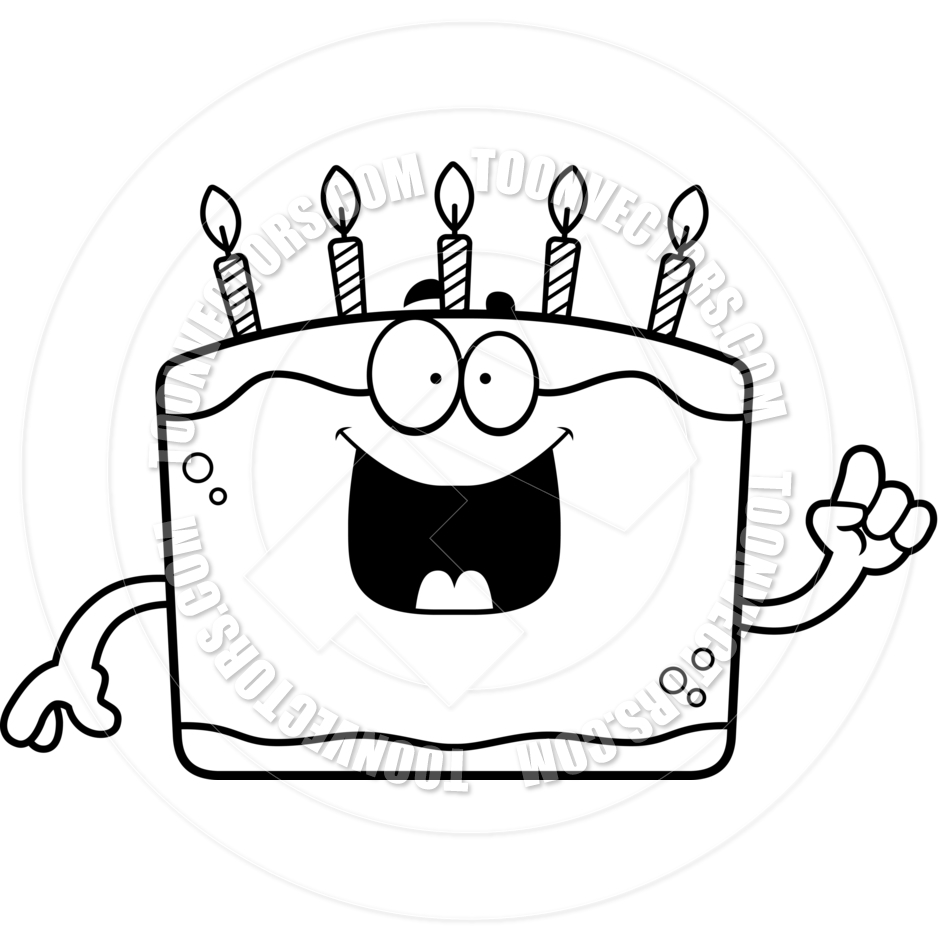 Cake with 6 candles black and white clipart image black and white library Birthday Candle Clipart Black And White | Free download best ... image black and white library