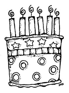 Cake with 6 candles black and white clipart png royalty free download 12 Best Doodle Cake images in 2019 | Birthday, Happy birthday ... png royalty free download
