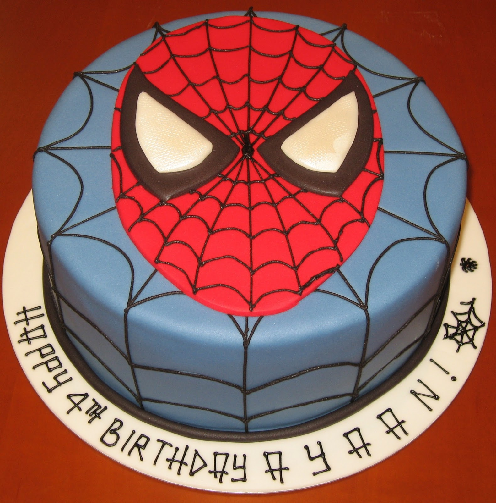 Cake with face clipart vector black and white download Let Them Eat Cake: Spiderman face cake - Clip Art Library vector black and white download
