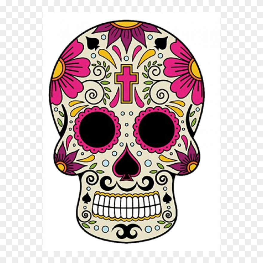 Calavera clipart clip art royalty free library Sugar Skull 01 Full Color Availability - Mexican Calavera Day Of The ... clip art royalty free library