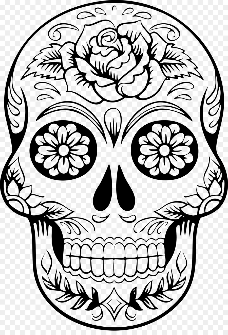 Calavera clipart jpg free Day Of The Dead Skull png download - 1606*2325 - Free Transparent ... jpg free