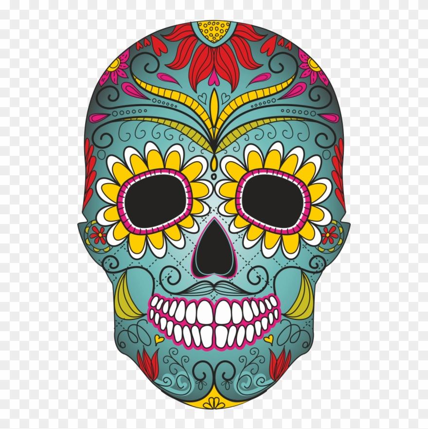 Calavera dia de muertos clipart free download Calavera Clip Art Transprent - Day Of The Dead Skull Clipart - Png ... free download