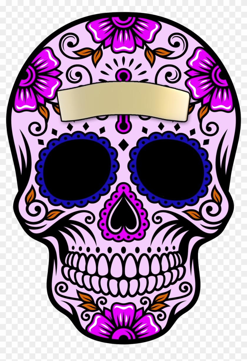 Calavera dia de muertos clipart black and white library Sugar Skull Clipart Transparent Background - Calavera Dia De Muertos ... black and white library
