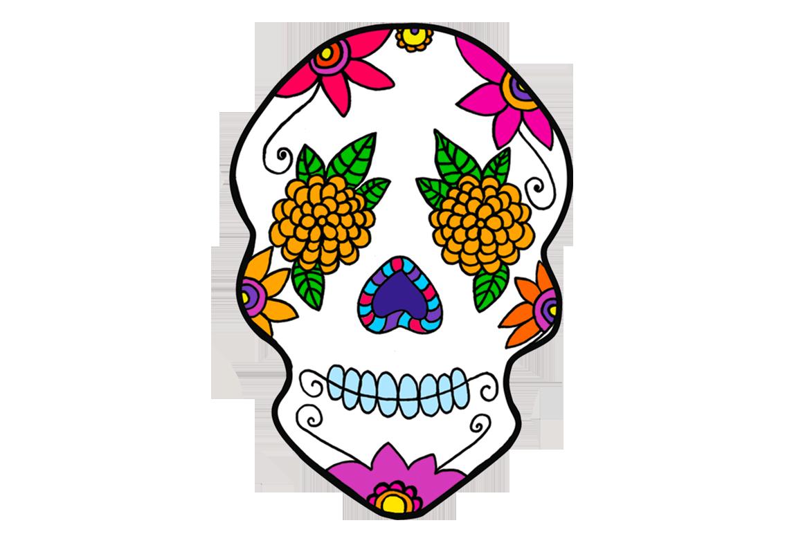 Calavera dia de muertos clipart png free library Dia de los muertos skull designs clipart images gallery for free ... png free library