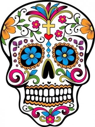 Calavera dia de muertos clipart banner stock Day of the dead skull Free vector for free download (about 2 files ... banner stock