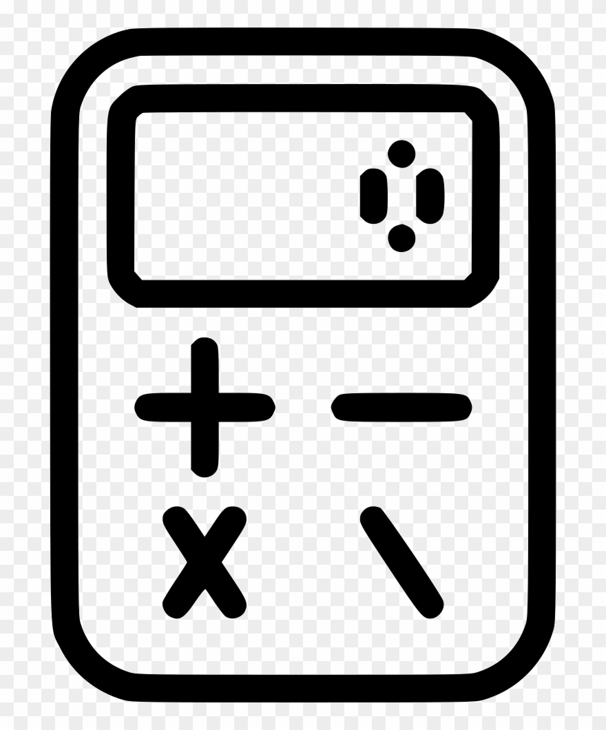 Calculate change clipart vector free download Calculator Comments - Calculator Line Icon Clipart (#3218824 ... vector free download