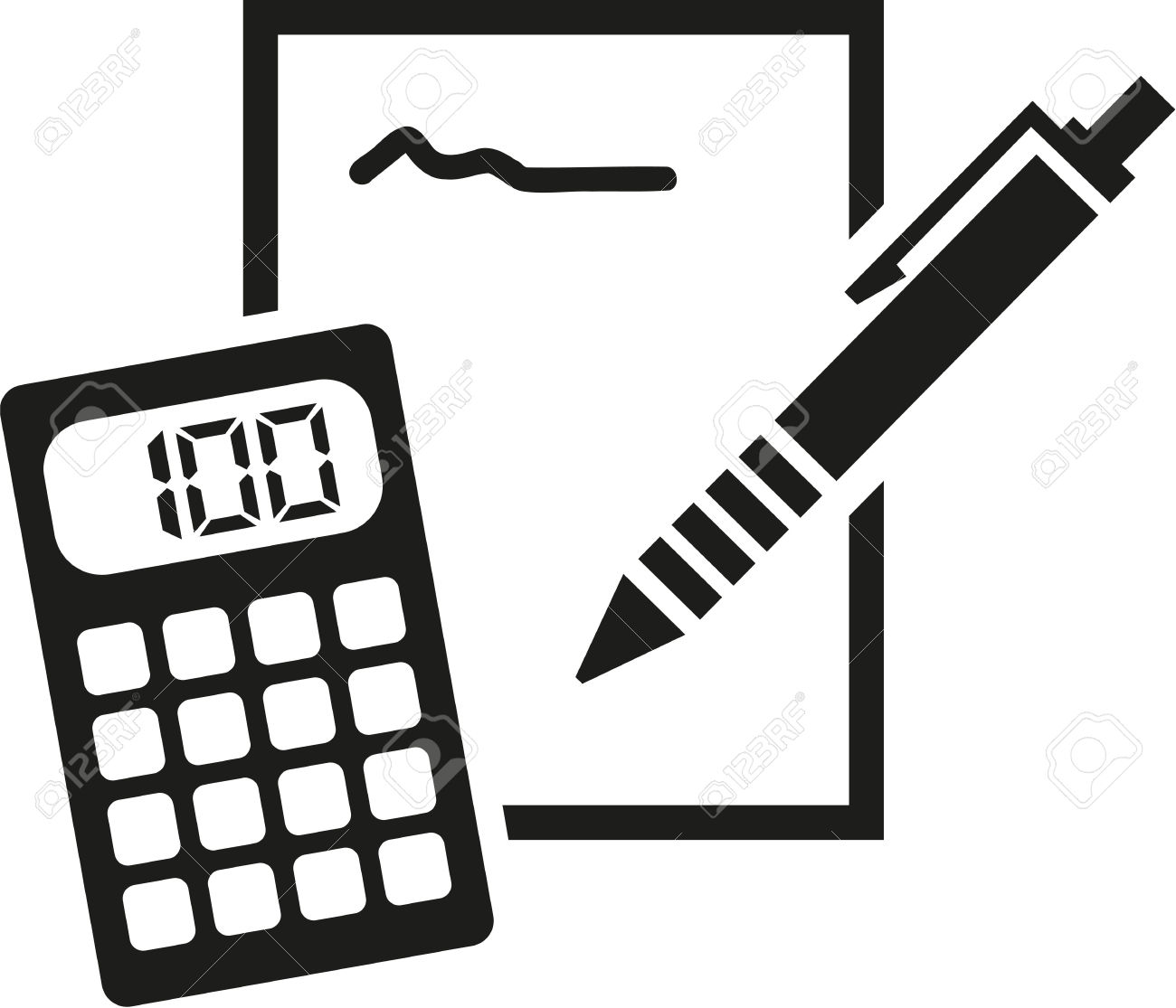 Calculation clipart clip royalty free stock Calculator Clipart Black And White | Free download best Calculator ... clip royalty free stock