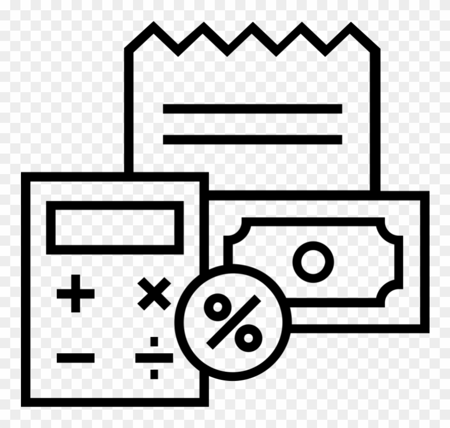 Reciepts clipart clip art royalty free stock Calculator And Receipts Icon - Valuation Vector Clipart (#544263 ... clip art royalty free stock