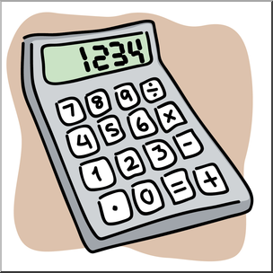 Calculator clipart images picture free stock Clip Art: Calculator Color I abcteach.com | abcteach picture free stock