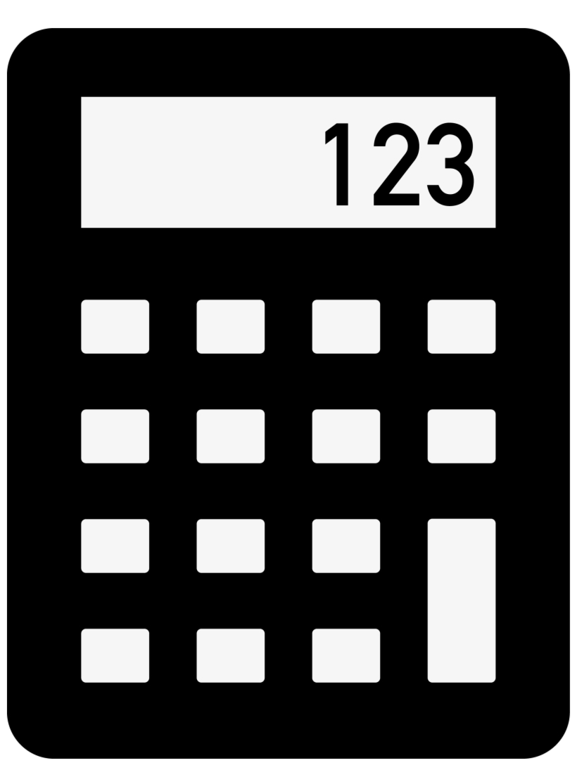 Calculator icon clipart png black and white library Calculator Clipart Icon Free Transparent Png - AZPng png black and white library