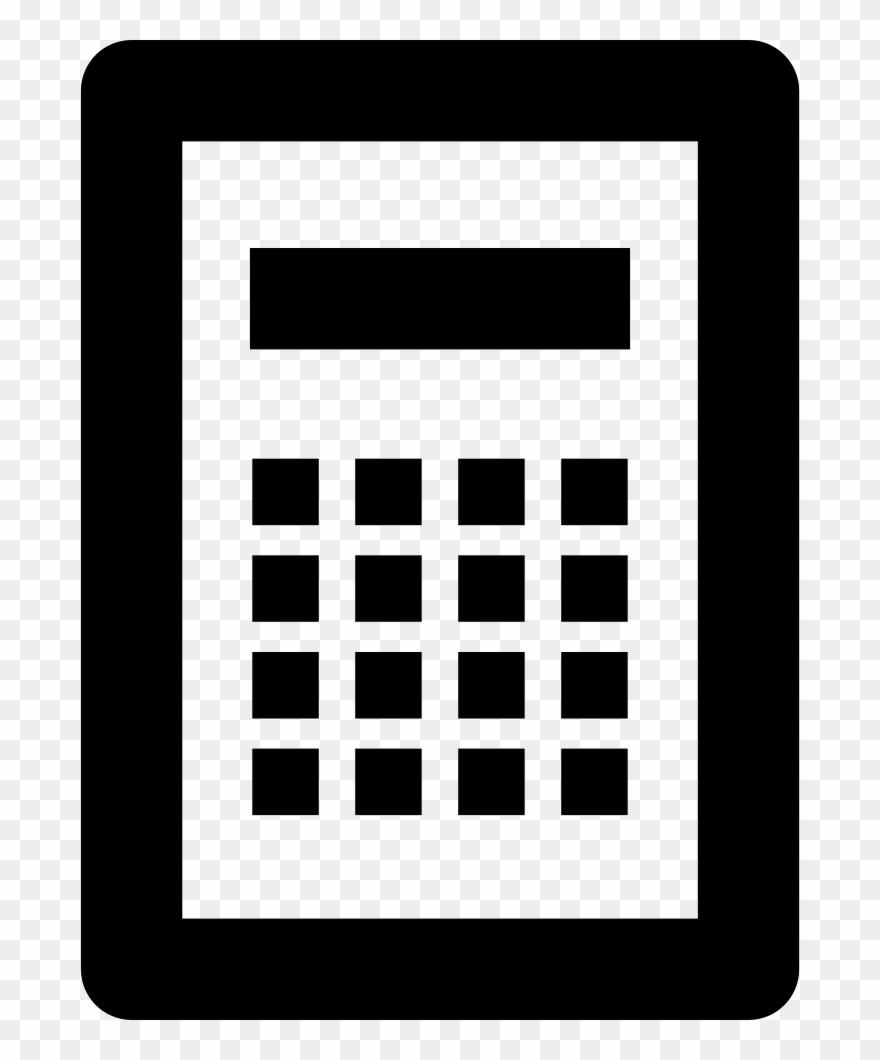 Calculator icon clipart clipart free Calculator Comments - Calculator Icon White Png Clipart (#2171746 ... clipart free