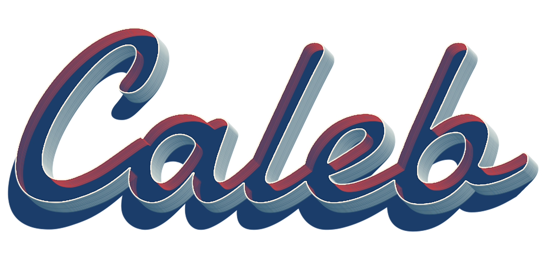 Caleb name clipart banner Caleb 3D Letter PNG Name banner
