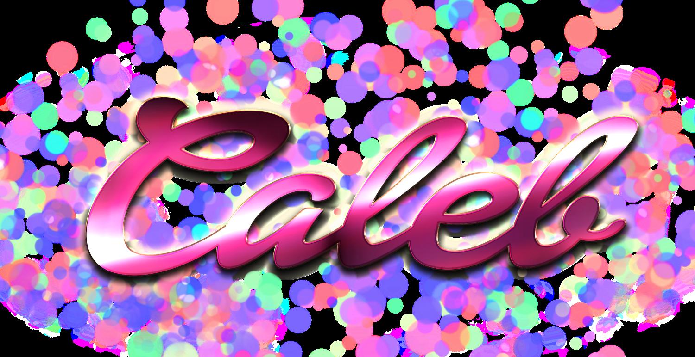 Caleb name clipart free Caleb Name Logo Bokeh PNG free