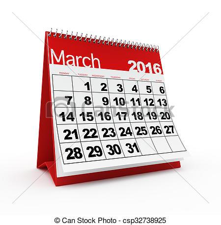 March calendar 2016 clipart - ClipartFest jpg freeuse stock