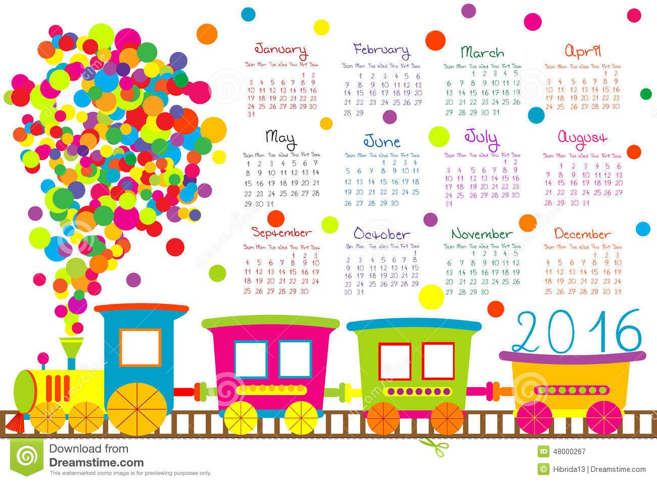 2016 Calendar Clipart - Clipart Kid free