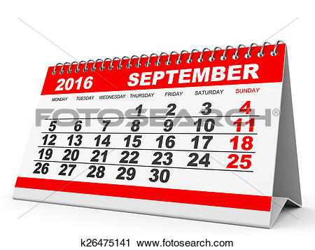 Calendar 2016 clipart clip free download Clipart of Calendar September 2016. k26475141 - Search Clip Art ... clip free download