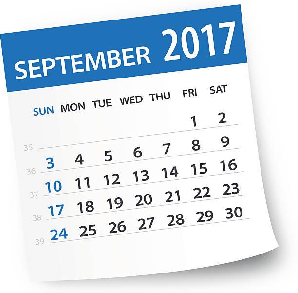 Calendar 2017 clipart png black and white September 17 Calendar Clipart & Clip Art Images #22578 ... png black and white