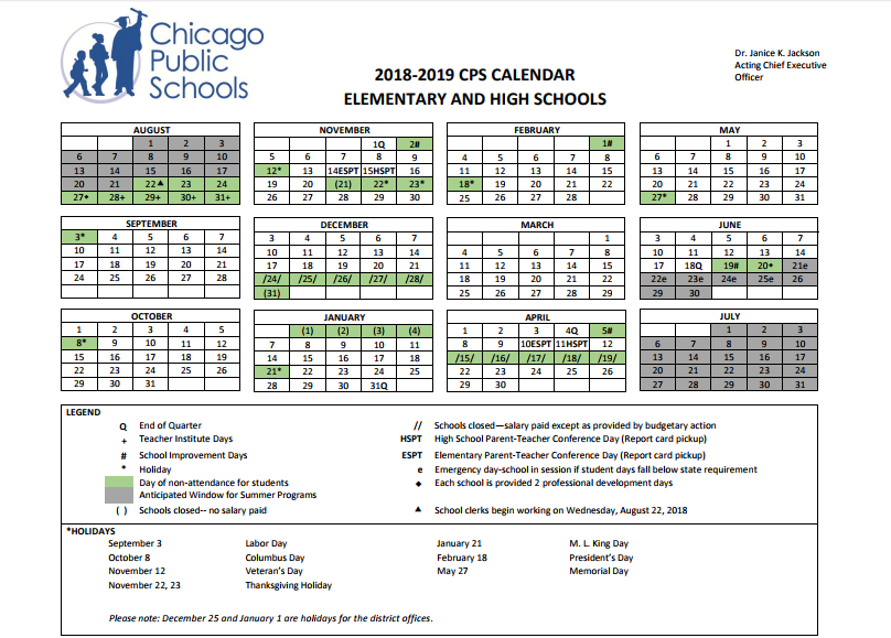 Calendar 2018 open clipart svg black and white CPS 2018-2019 School Calendar - Chicago School Options svg black and white