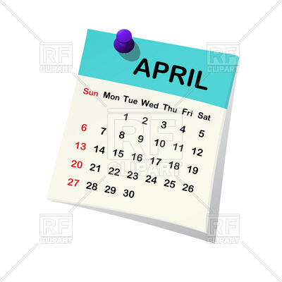 Calendar april clipart svg freeuse library April 2014 month calendar Vector Image #20542 – RFclipart svg freeuse library