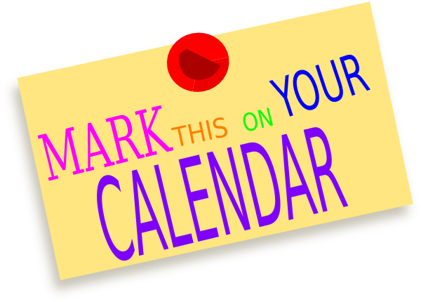 Mark Your Calendar Clipart & Mark Your Calendar Clip Art Images ... svg freeuse library