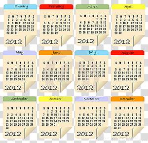 Calendar clipart 2012 picture freeuse download Cool Calendars , calendar illustration transparent background PNG ... picture freeuse download