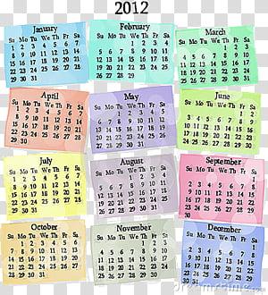 Calendar clipart 2012 clip art free Cool Calendars , calendar illustration transparent background PNG ... clip art free