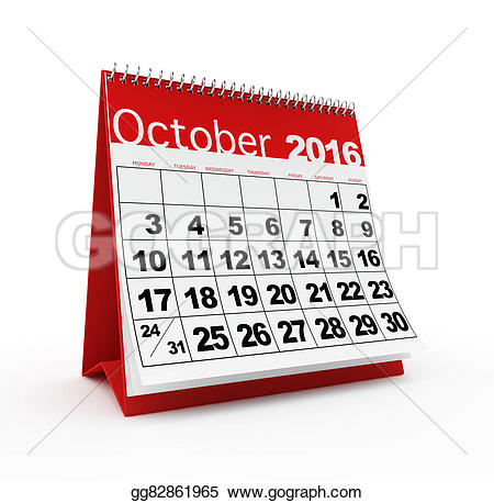 Calendar clipart 2016 clipart freeuse Stock Illustration - October 2016 calendar. Clipart gg82861965 ... clipart freeuse